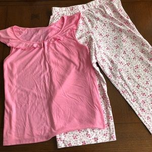 Other - Pink and white pajama set